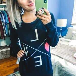 Forever 21 LOVE Sweater Small